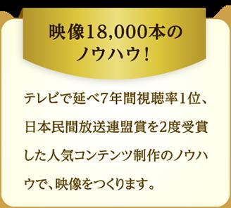 映像18,000本のノウハウ!